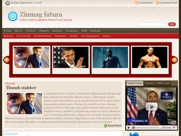 Free Wordpress Theme - Zinmag-Futura - Free Download