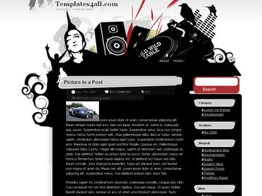 Free Wordpress Theme - DJ-wild