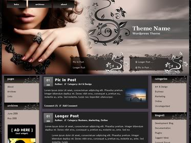 Free Wordpress Theme - Elegant Jewel