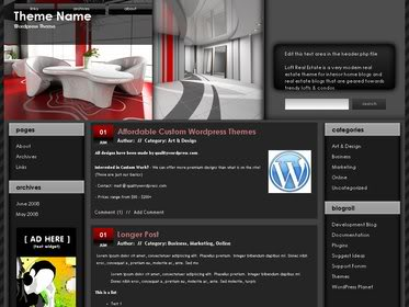 Free Wordpress Theme - Loft Real Estate