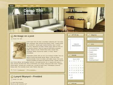 Free Wordpress theme - Fancy Living Room