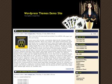 Free Wordpress theme - Online Casino Template 37