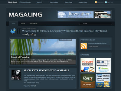 Free Wordpress theme - Magaling