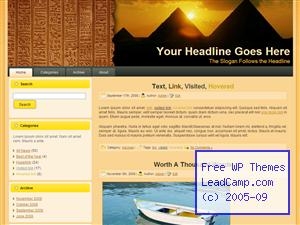Ancient Egyptian Hieroglyphics Free WordPress Template / Themes