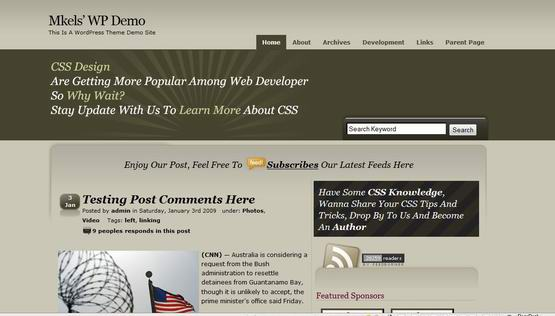 CSSTalk ? Free Wordpress Theme