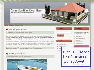 Single Story Family House Free WordPress Template / Themes