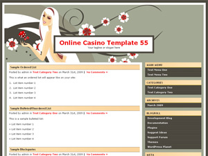 Online Casino Template 55  WordPress Theme Screenshot