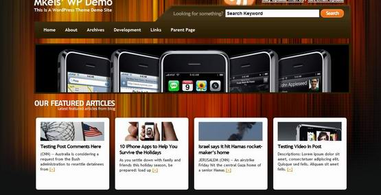 Xeromobile ? Free Wordpress Theme