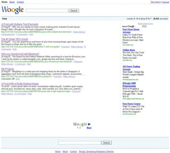 Woogle ? The Google Search Engine Clone