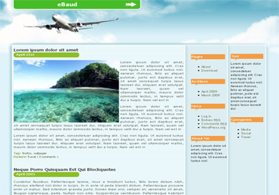 Free WordPress theme - Travel Skyhigh