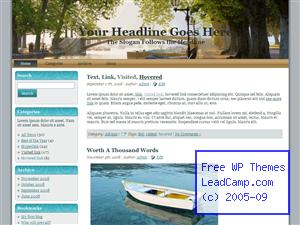 Sunny Boats By River Free WordPress Template / Themes