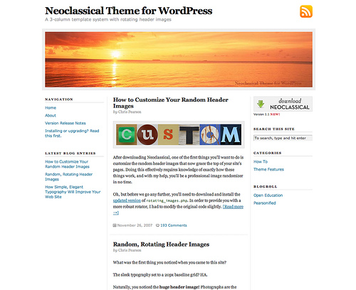 Neoclassical ? Simple & Elegant Wordpress Theme