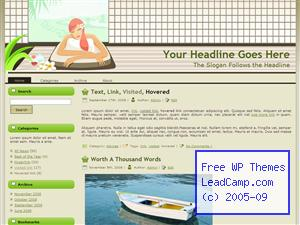 Spa Massage Relaxation Free WordPress Template / Themes