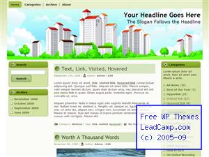 Living In The City Free WordPress Template / Themes