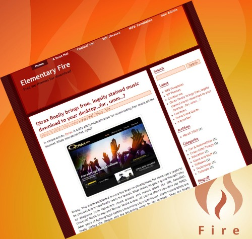 Elementary Fire WordPress Themes