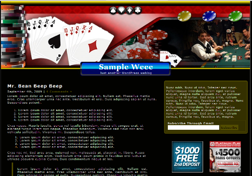 Casino 404 WordPress Theme