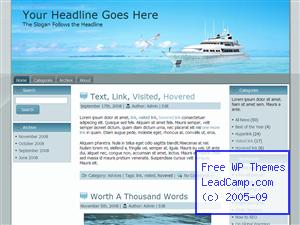 Yacht Sailing Free WordPress Template / Themes