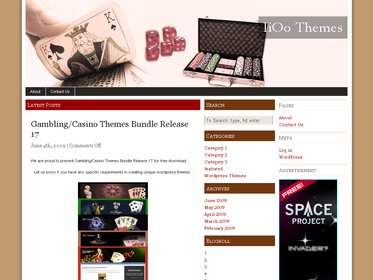 Free Wordpress theme - Las vegas 4
