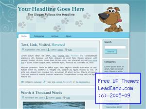 Happy Puppy Paws Free WordPress Template / Themes
