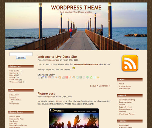 SEA EDGE WordPress Theme