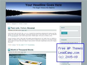 Sunrise Over Lake Free WordPress Template / Themes