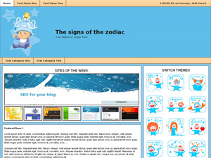 The Signs Of The Zodiac WordPress Theme Screenshot