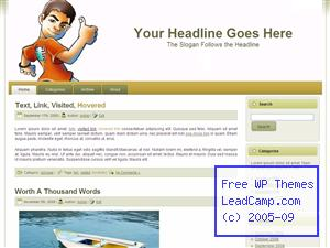 Thumbs Up Boy Free WordPress Template / Themes
