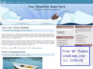 Cold Ice Fishing Free WordPress Template / Themes