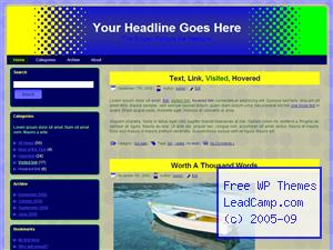 Halftone Dot Gradient Free WordPress Template / Themes