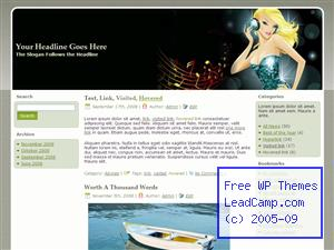 Music Disco Girl Free WordPress Template / Themes