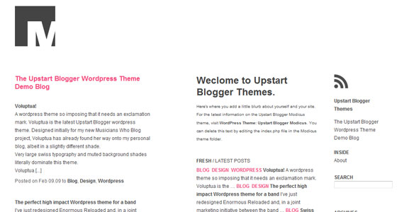 Modicus ? Free Wordpress Theme