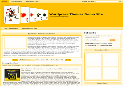 Free WordPress theme - Online Casino Template 88