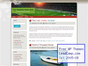 Soccer Stadium Free WordPress Template / Themes