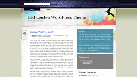 Free WordPress theme - Led Leisten Theme