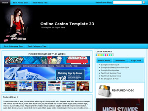 Online Casino Template 33 WordPress Theme Screenshot