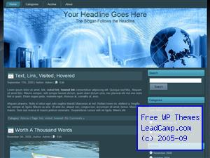 World Internet Communication Free WordPress Template / Themes