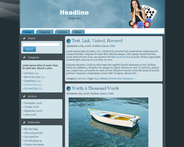 Gambling Wordpress Theme 5