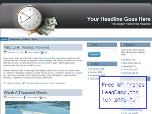 Money And Time Count Free WordPress Template / Themes