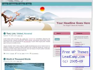 Winter Japanese Village Free WordPress Template / Themes