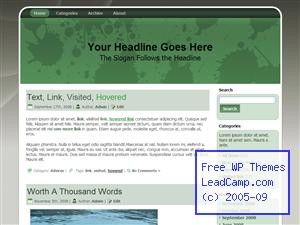 Green Paint Splashes Free WordPress Template / Themes