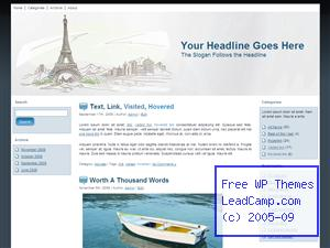 Paris Eiffel Tower Free WordPress Template / Themes