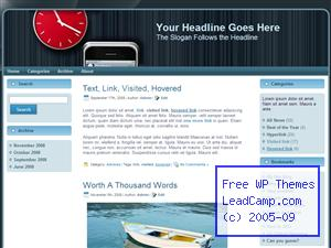 Time Passes On Iphone Free WordPress Template / Themes