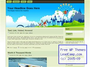Amusement Park Fun Free WordPress Template / Themes