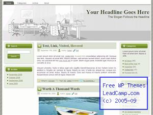 High Rise Office And Tables Free WordPress Template / Themes