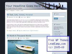 Man On The Docks Free WordPress Template / Themes