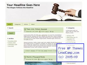 Legal Advice And Judgment Free WordPress Template / Themes