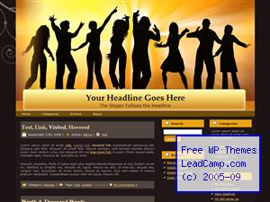 Time To Dance Free WordPress Template / Themes