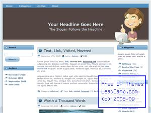 A Business Idea Free WordPress Template / Themes