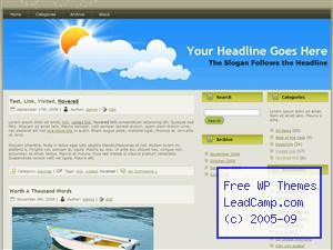Sun Out Of Clouds Free WordPress Template / Themes