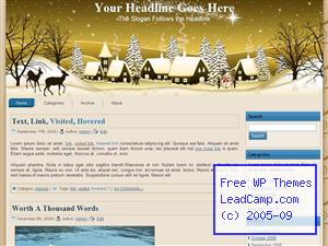 Golden Winter Xmas Free WordPress Template / Themes
